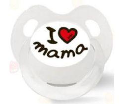 Cumlík anatomický silikónový Bibi I Love Mama