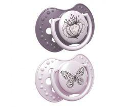 Cumlík dynamické silikónové 2 ks Lovi Botanic Pink