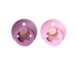 Cumlík guľaté Kaučuk 2 ks Bibs Colour Lavender / Baby Pink