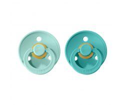 Cumlík guľaté Kaučuk 2 ks Bibs Colour Mint / Turquoise