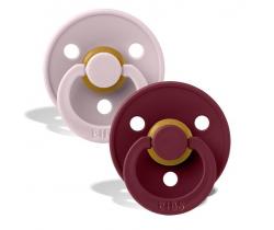 Cumlík guľaté Kaučuk 2 ks Bibs Colour Pink Plum / Elderberry
