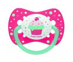 Silikónové symetrické cumlík Canpol Let 'Celebrate Pink Cake