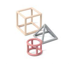 Silikónové hryzátko 3 ks BabyOno Geometric