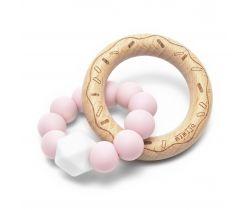 Silikónové hryzátko Mimijo Ružový Donut