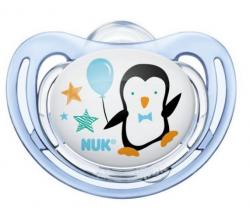 Silikónový  cumlík Nuk Freestyle Tučniak modrá