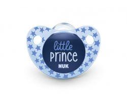 Silikónový cumlík Nuk Trendline Adore Little Prince