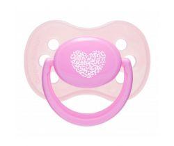 Silikónové cumlík čerešnička Canpol Pastels Pink Heart