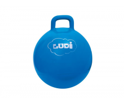 Skákacia lopta 45 cm modrá Ludi