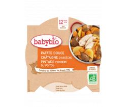 Sladké zemiaky s gaštanovým pyré a farmárskou perličkou 230g Babybio