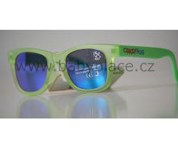 Slnečné okuliare pre deti Crazy Dog Little Artist Green