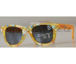 Slnečné okuliare pre deti Crazy Dog Little Artist Orange Bubbles