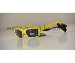 Slnečné okuliare pre deti s gumičkou Crazy Dog Yellow