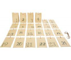 Adventný kalendár Small Foot Papierové taštičky