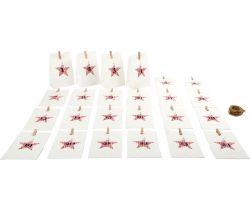Adventný kalendár Small Foot Papierové biele taštičky