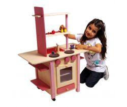 Detská drevená kuchynka všetko v jednom Small Foot Ružová