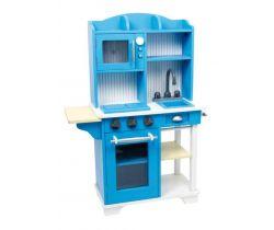 Detská drevená modrá kuchynka Small Foot