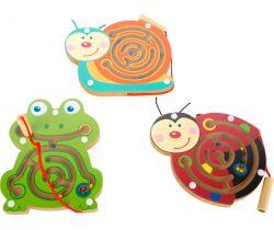 Magnetický labyrint 12 ks Small Foot Zvieratká
