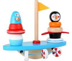 Drevená motorická balančné hra Small Foot Jžní pól
