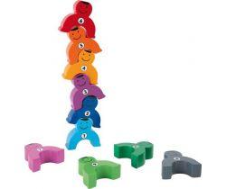 Drevená motorická hra siláci s číslami Small Foot