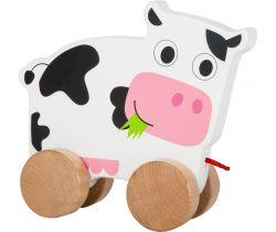 Drevená ťahacie kravička Small Foot