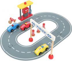 Drevená závodná dráha s autíčkami Small Foot