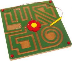 Drevené hračky Magnetické bludisko Small Foot Abstrakt