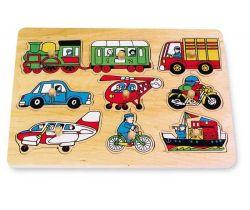 Drevené hračky Vkladacie skladačka Small Foot Doprava
