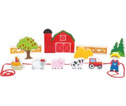 Drevené navliekacie hrací set Small Foot Farma