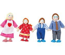 Drevené ohýbateľné bábiky Small Foot Rodina