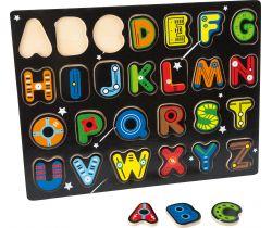 Drevené puzzle Small Foot Abeceda