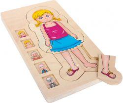 Drevené puzzle Small Foot Anatómia