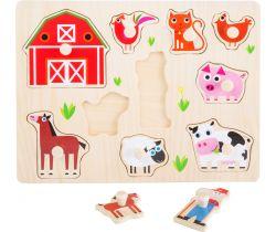 Drevené puzzle Small Foot Farma