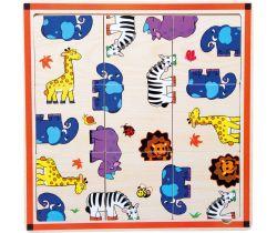 Drevené puzzle 9 dielikov Small Foot Safari