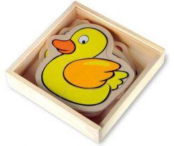 Drevené puzzle v krabičke Small Foot Farma