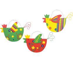 Drevené farebné sliepočky 3 ks Small Foot