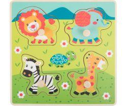 Drevené vkladacie puzzle Small Foot Safari