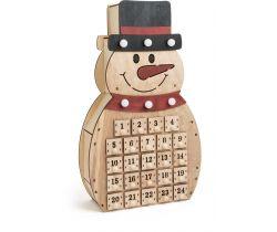 Drevený adventný kalendár Small Foot Snehuliak