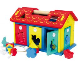 Drevený domček na kľúčik so zvieratkami Small Foot