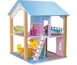 Drevený domček pre bábiky Small Foot Modrá strecha