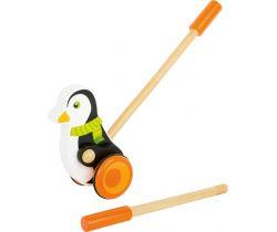 Drevený Ježdík Small Foot Tučniak s šálom