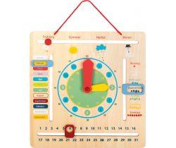 Edukatívne kalendár s hodinami nemecký Small Foot