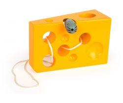 Hra na prevliekanie Small Foot Syr s myšou Žltá verzie