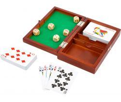 Hracie kocky a karty v drevenom boxe Small Foot