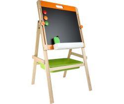 Kompaktný detská tabuľa na kriedu aj magnet Small Foot