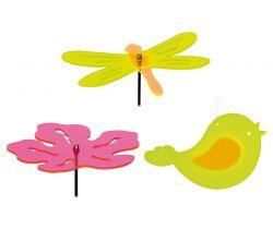 Sada 3 ks dekorácií ku kvetináčom Small Foot