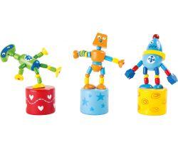 Sada mačkacie drevený robot Small Foot 3 ks