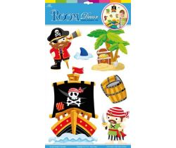 Samolepiace dekorácie na stenu piráti Small Foot