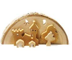 Vianočné dekorácie Small Foot 3D Zámok vrátane čajové sviečky