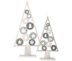 Vianočné dekorácie Small Foot Stromček svetlý 2 ks