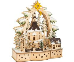 Vianočné dekoračné lampa Small Foot koledníci